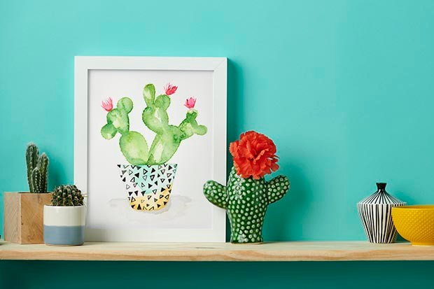 Watercolour cactus project created by Esther Curtis