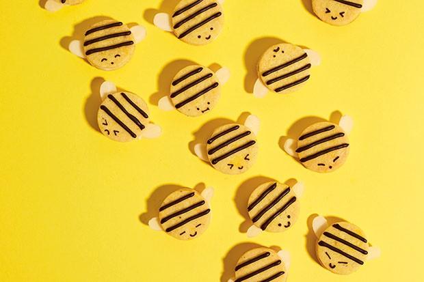 Cardamom, almond and honey bee cookies recipe by Kim-Joy Hewlett