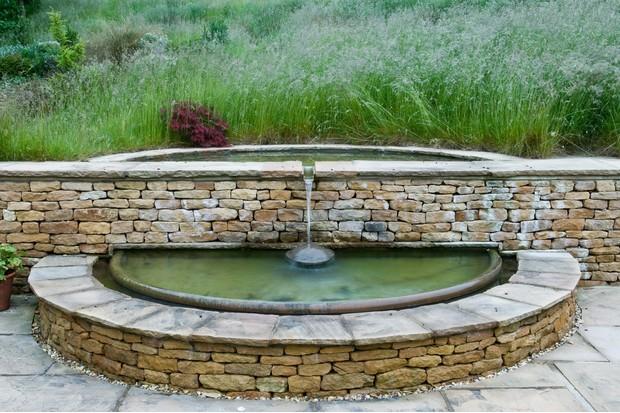 Brick water feature. Photo: Jason Ingram