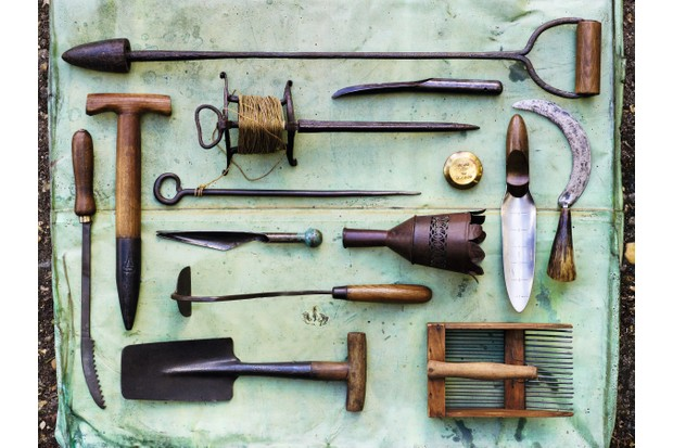 Tools for the produce garden