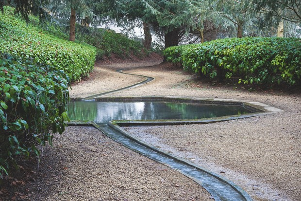 The meandering rill, much admired by today's designers is interrupted by the Cold Bath, which was intended for use as a bracing miniature swimming pool.