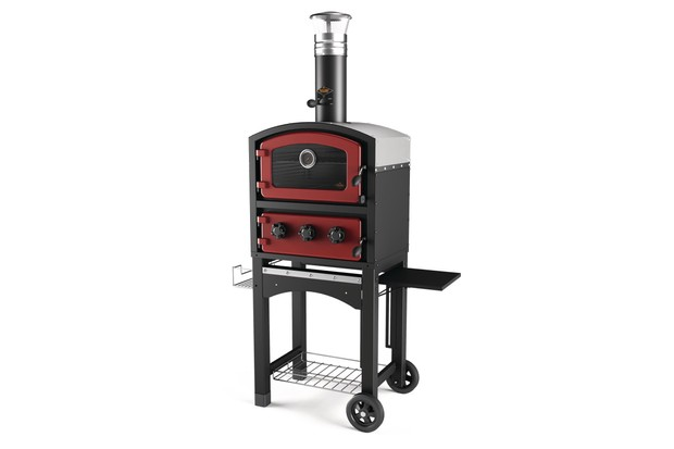 Fornetto Wood Fired Oven and Smoker with stainless steel interior with cast iron doors by Garden Gift Shop