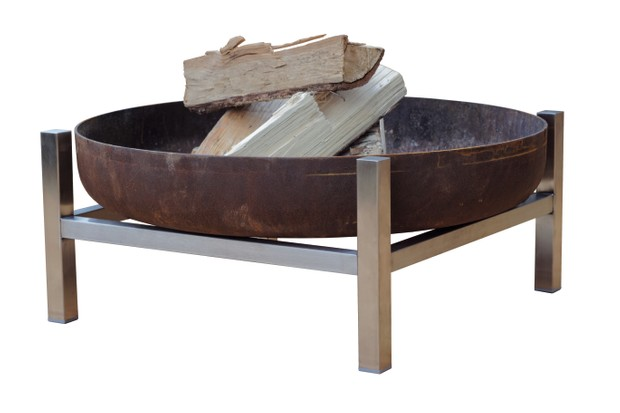 Crate short fire pit