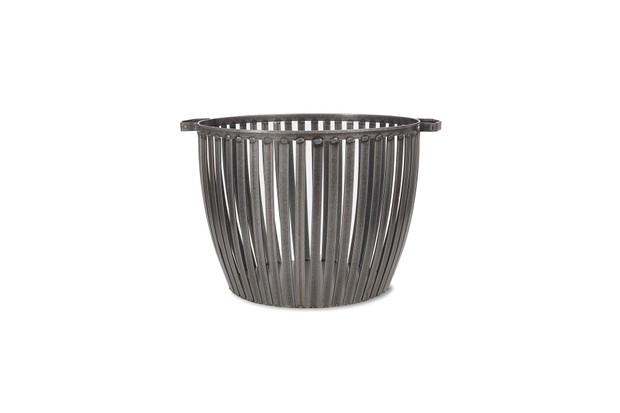 Hand welded large steel basket with industrial appears by Grading Trading