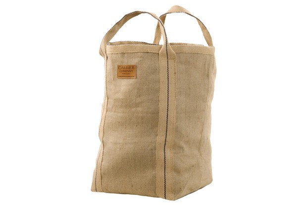 Strong hardwearing jute bag equally suited to carrying logs or storing logs for open fires and log burners by Carrier Company