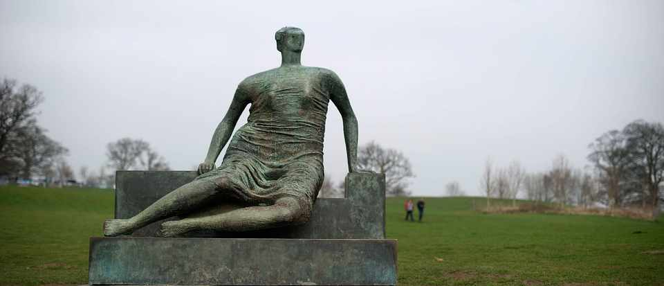 WAKEFIELD, ENGLAND - MARCH 14: Draped seated woman by Henry Moore at Yorkshire Sculpture park on March 14, 2012 in Wakefield, England. (Photo by Bethany Clarke/Getty Images)