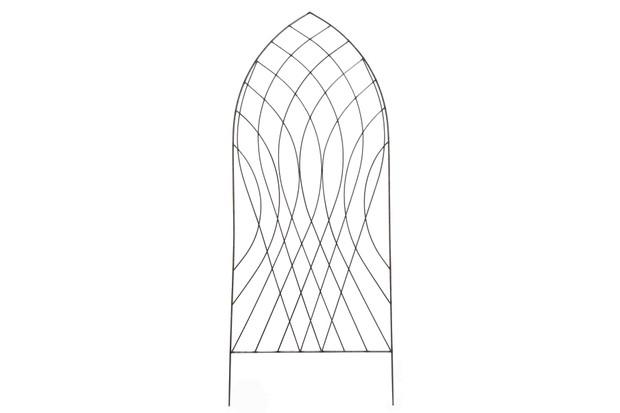 Raw Metal Arch Trellis