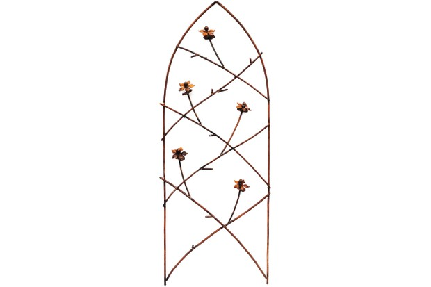 Rusted Gothic Flower Trellis