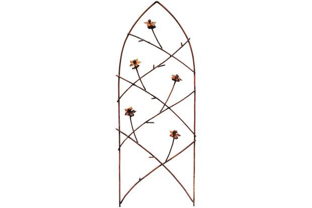 Rusted Gothic Flower Trellis