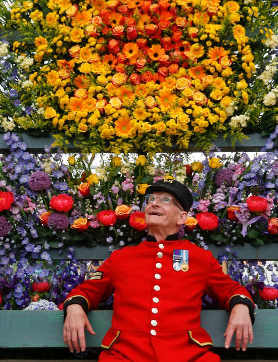 Chelsea Pensioner at RHS Chelsea Flower Show 2018 RHS / Luke MacGregor