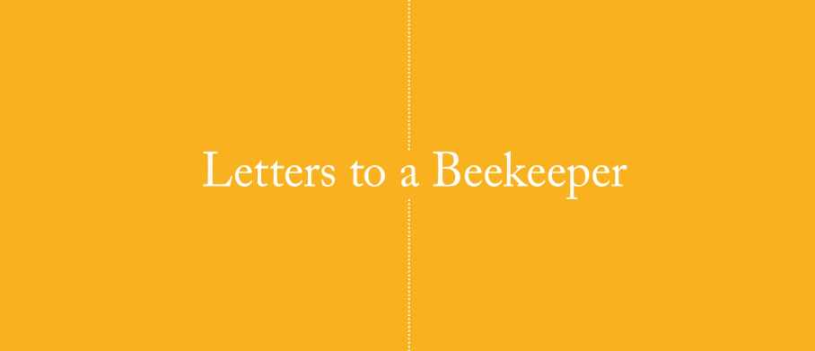 Letters to a beekeeper book cover