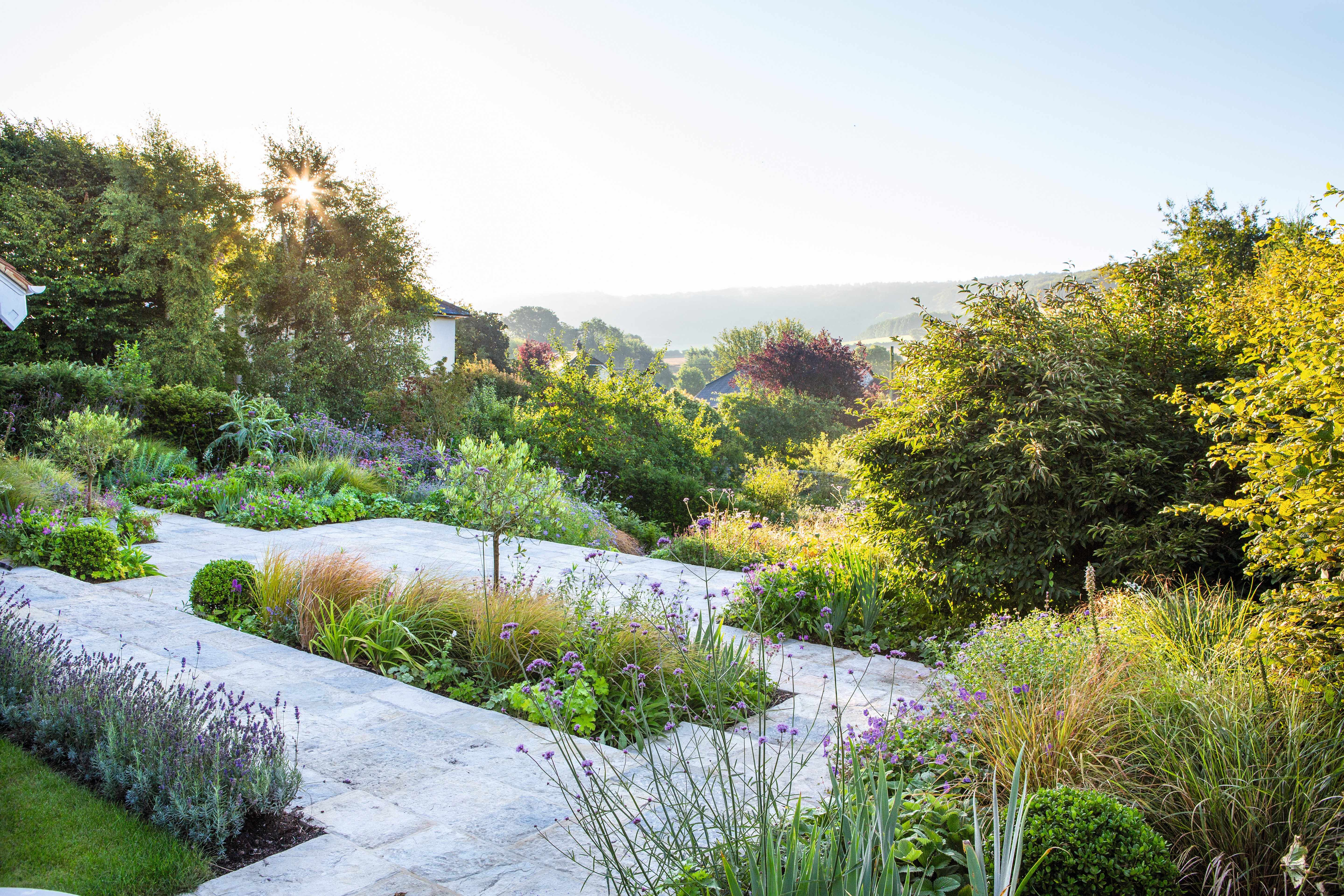 Sloping garden design