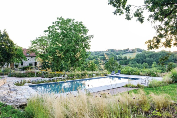 natural touch to a conventional swimming pool