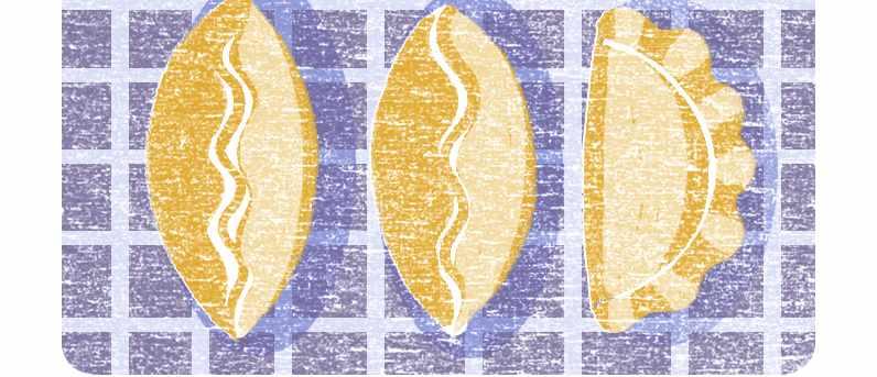 Illustration of spiced pumpkin pasties