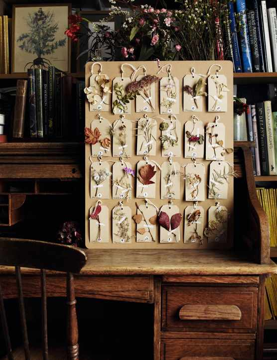 A photo of floral advent calendar