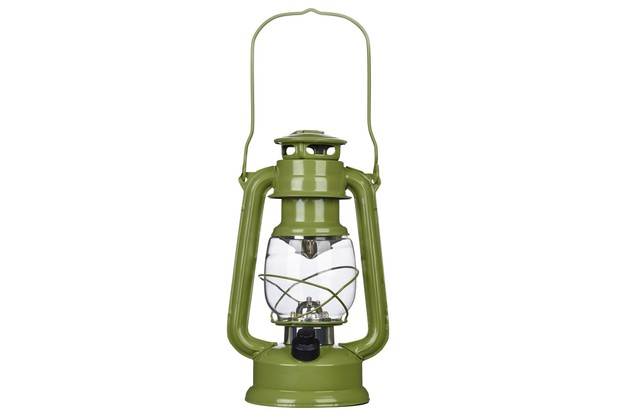 Battery-Operated LED green Lantern