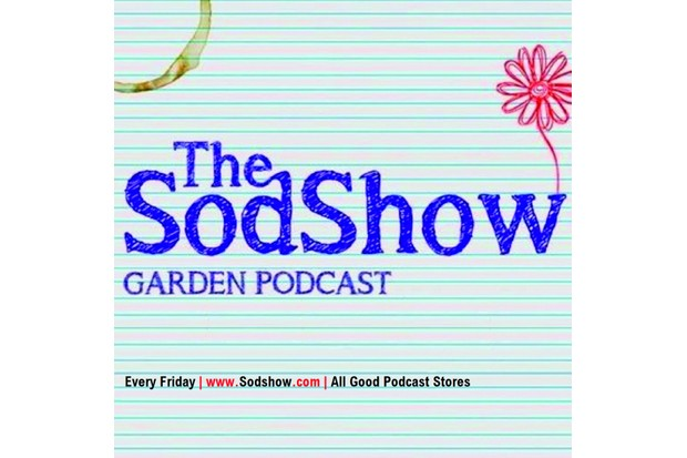 A logo of the Sod Show garden podcast