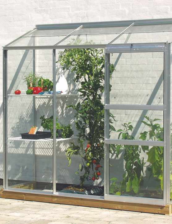 Lean-to mini greenhouse