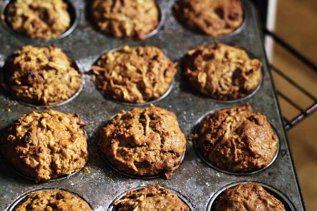 Parsnip and apple muffins