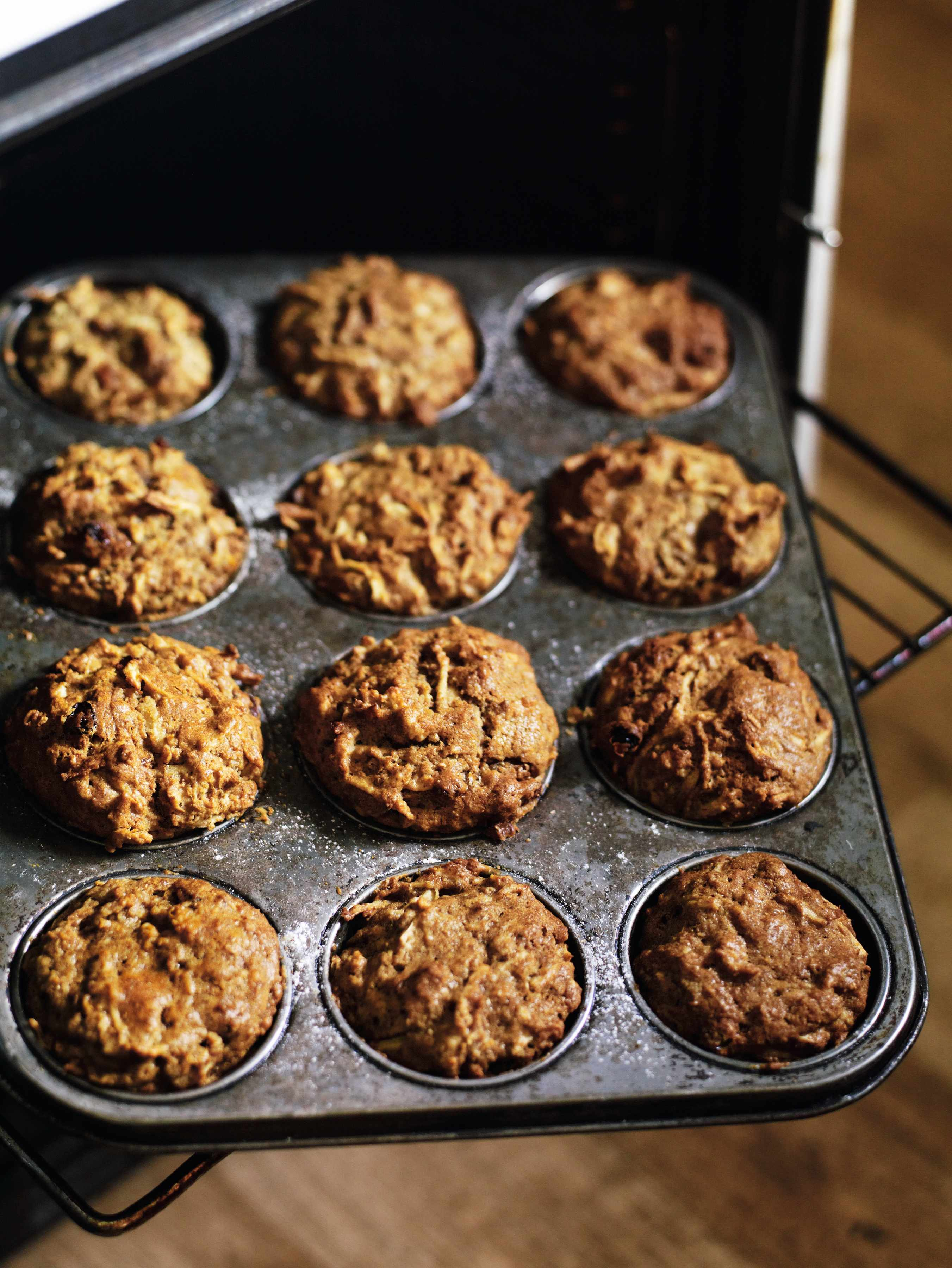 Recipe for parsnip and apple muffins