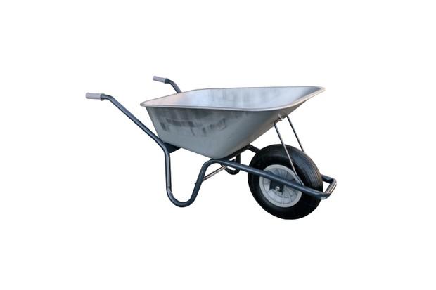 Galvanised steel 120kg wheelbarrow