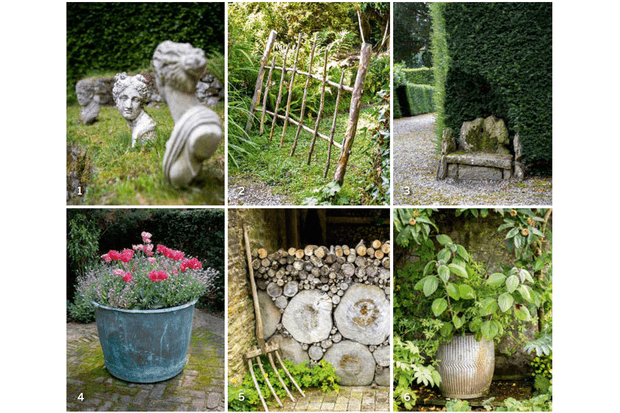 Small, cleverly placed details in a garden design can help to make the garden feel older than it is