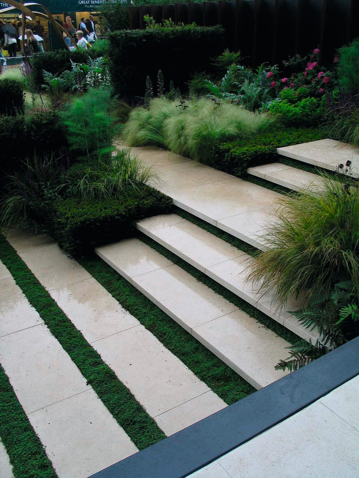 A General Rule Of Thumb For Garden Steps Is A 15cm Maximum Riser And 30cm  Minimum Tread Depth. This Ratio Produces A More Relaxed Angle Of Ascent Or  Descent ...