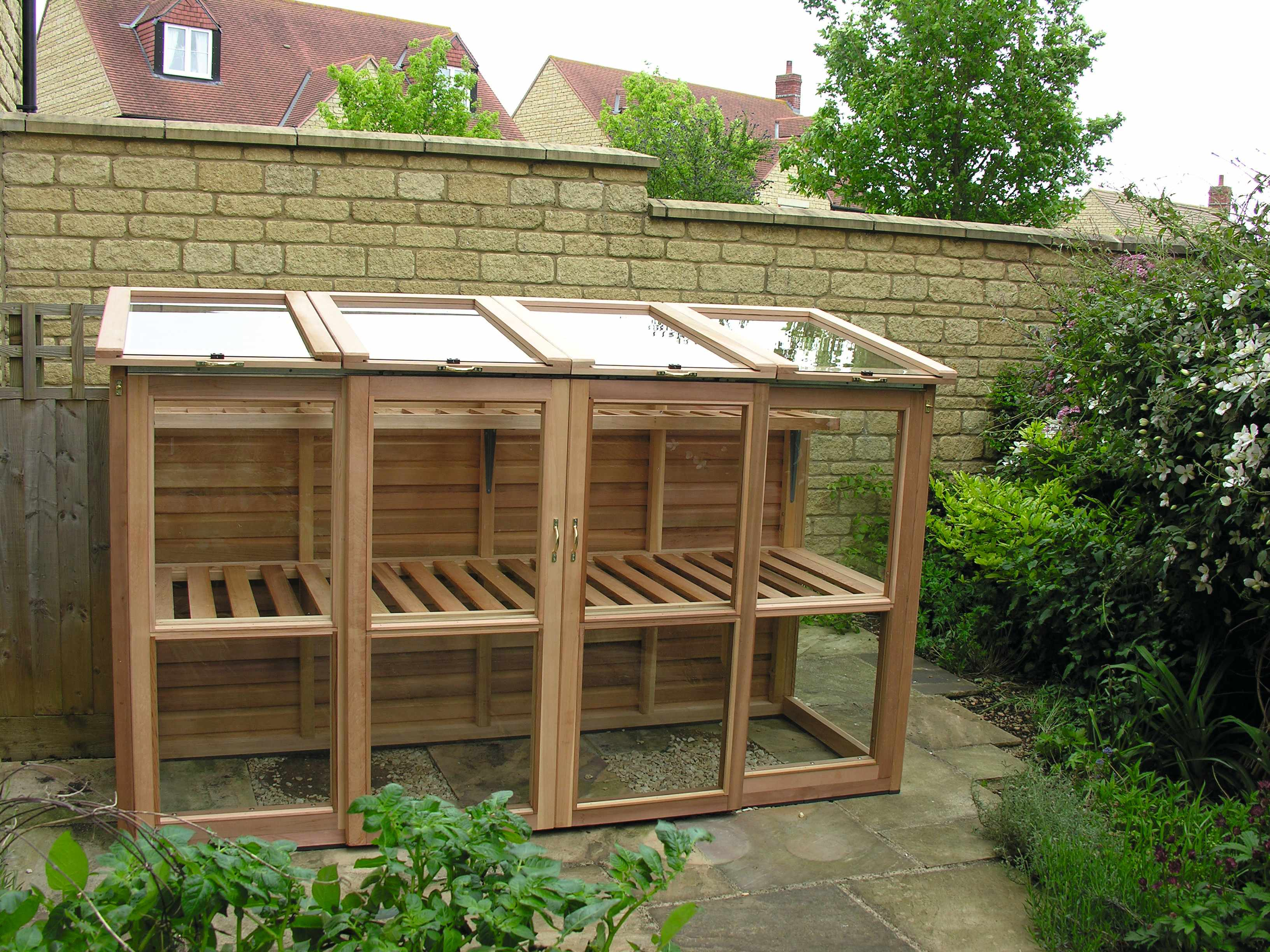 Small cedar greenhouse