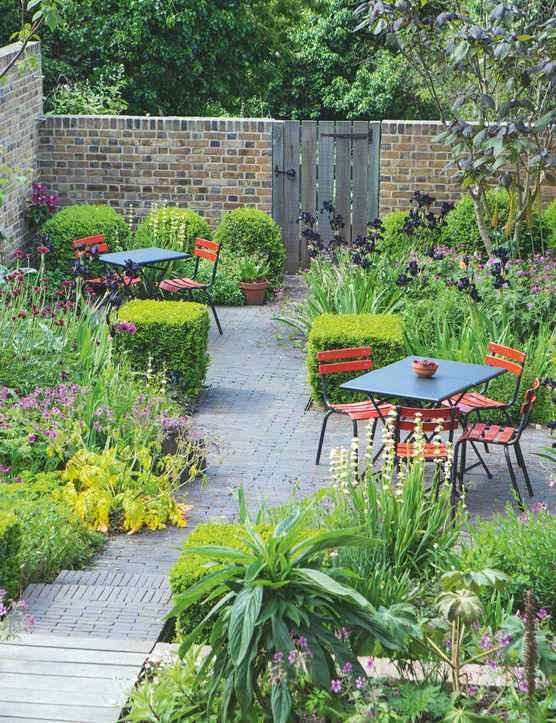 Garden Designer Jinny Blom's own garden in Brockley London, June 2015 UK