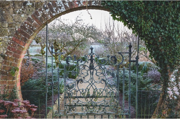 Walled garden gate and entrance. c. Richard Bloom