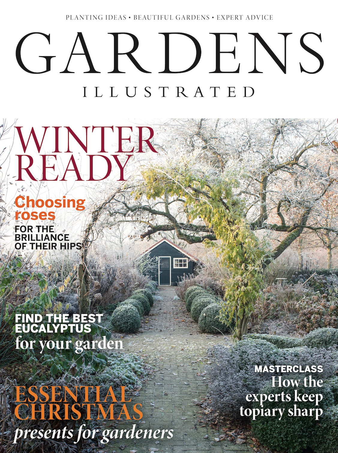 The December 2018 cover of Gardens Illustrated