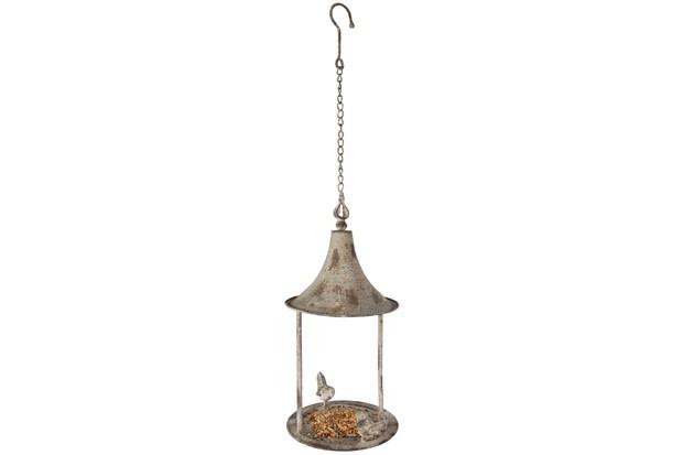 Aged metal bird feeder from garden sundries company Fallen Fruits