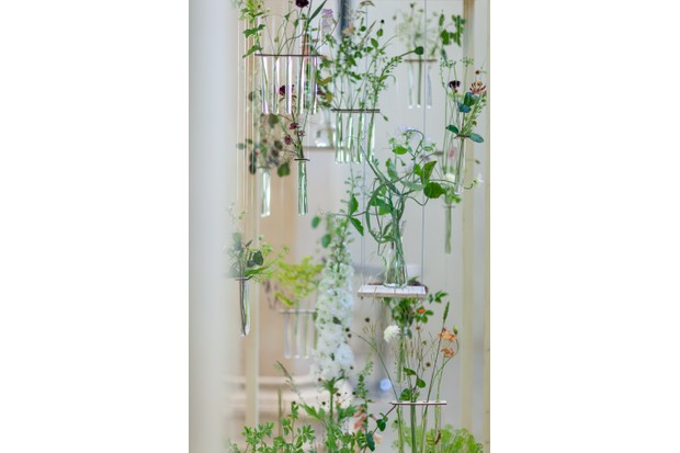 2018 British Flowers Week display by Festoon in the Garden Museum