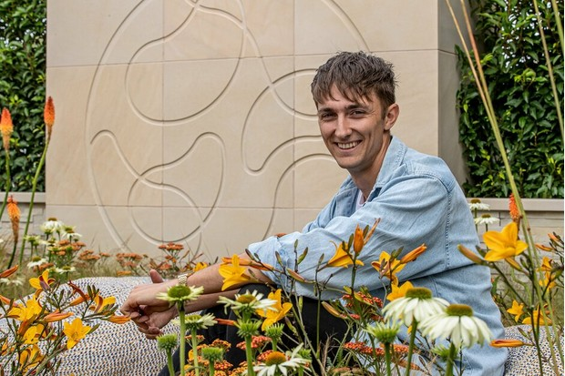 Young Designer of the Year Kristian Reay in his winning garden