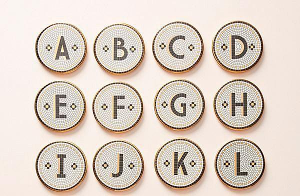 Tiled Margot Monogram Coasters