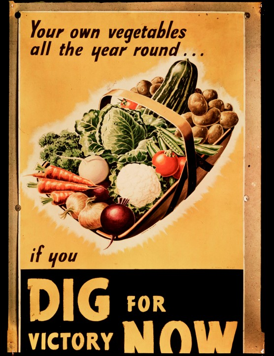 Dig for Victory poster, c 1940.