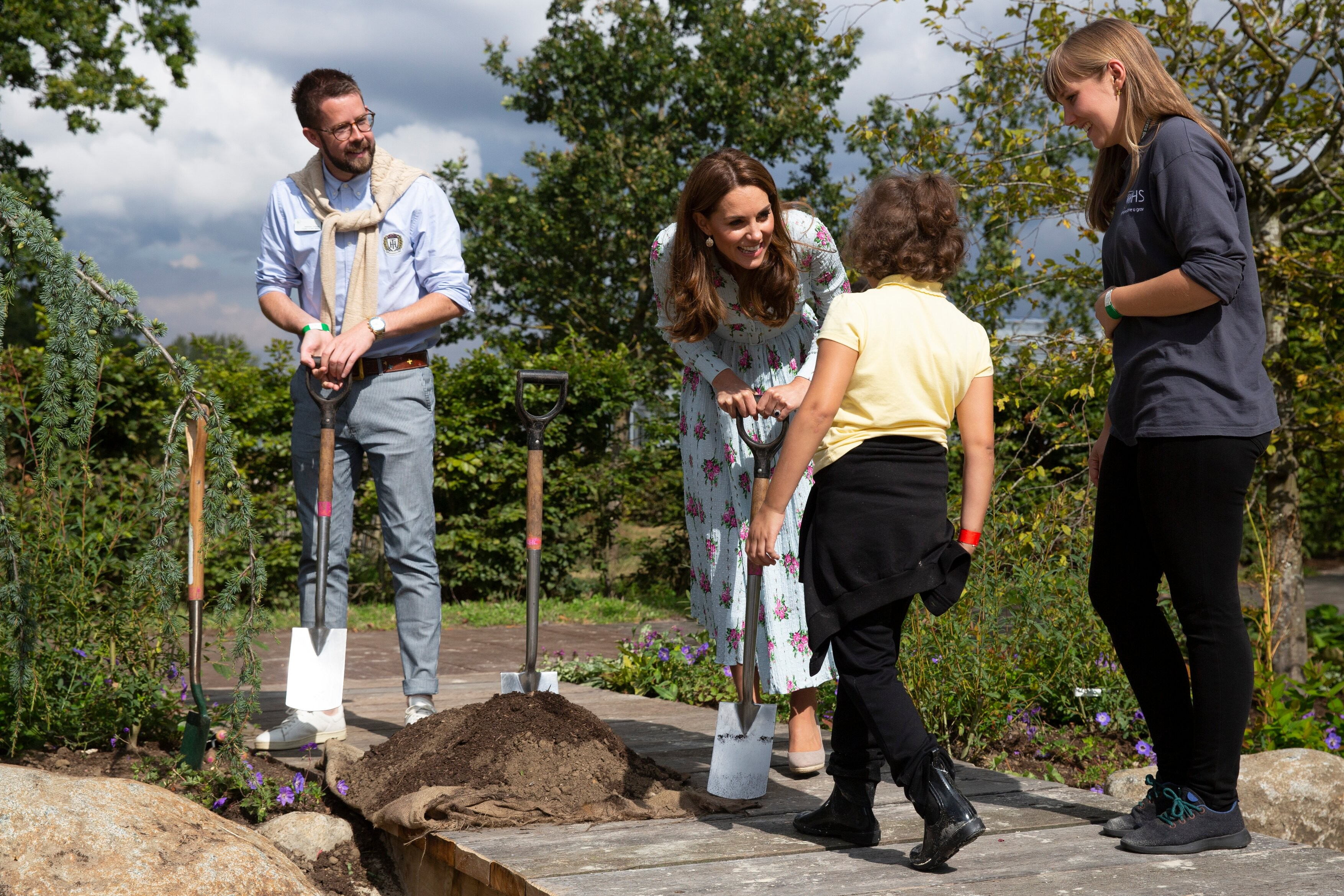 Catherine, Duchess of Cambridge at RHS Wisley