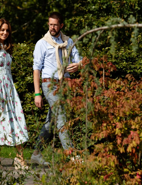 Catherine, Duchess of Cambridge with Matt Pottage, curator of RHS Wisley during the launch of her Back to Nature Garden and the Back to Nature Festival at RHS Garden Wisley