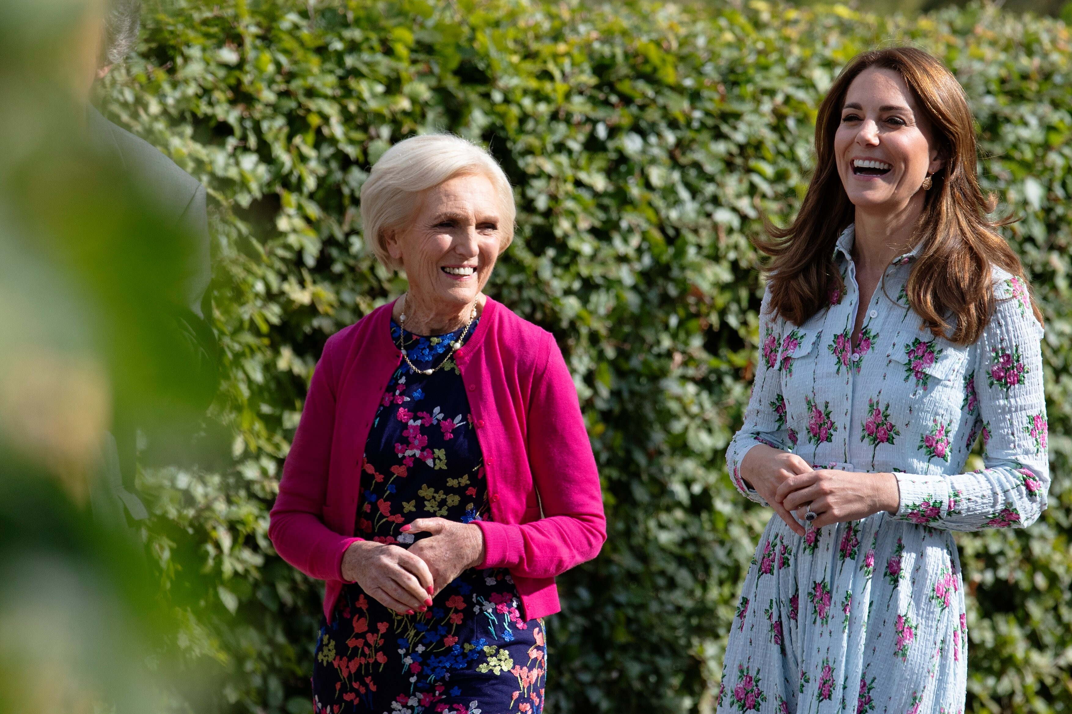 Catherine, Duchess of Cambridge with celebrity chef Mary Berry during the launch of her Back to Nature Garden and the Back to Nature Festival at RHS Garden Wisley
