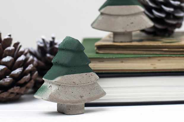 Bells and Whistles Make Concrete Xmas Tree Green