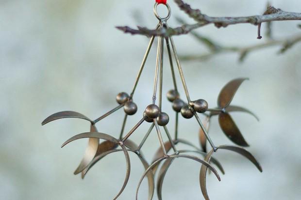 Brass mistletoe hangings