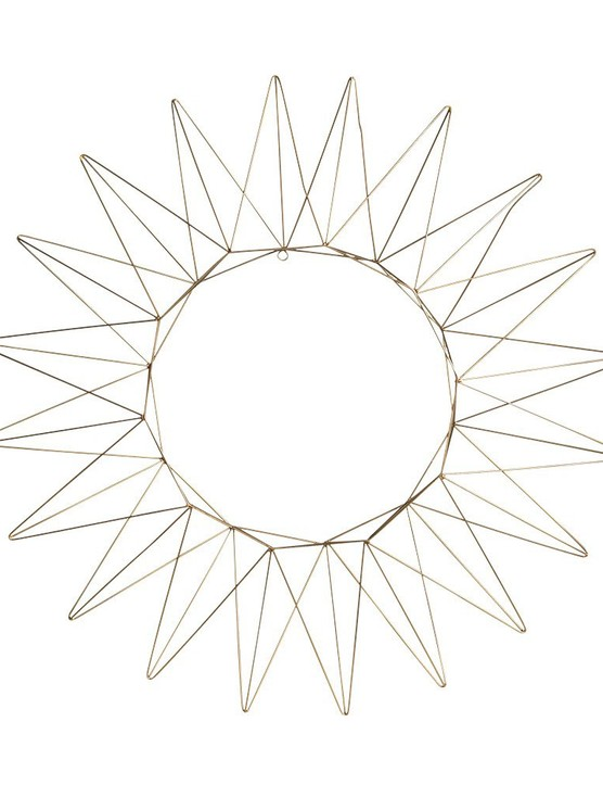 Crocus Talini Brass Wire Wreath