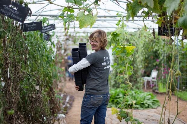 Head gardener Penny Hemming at Riverford