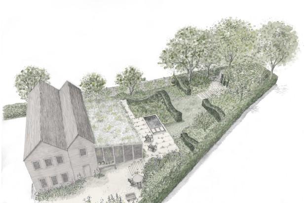 A Modern Apothecary Garden