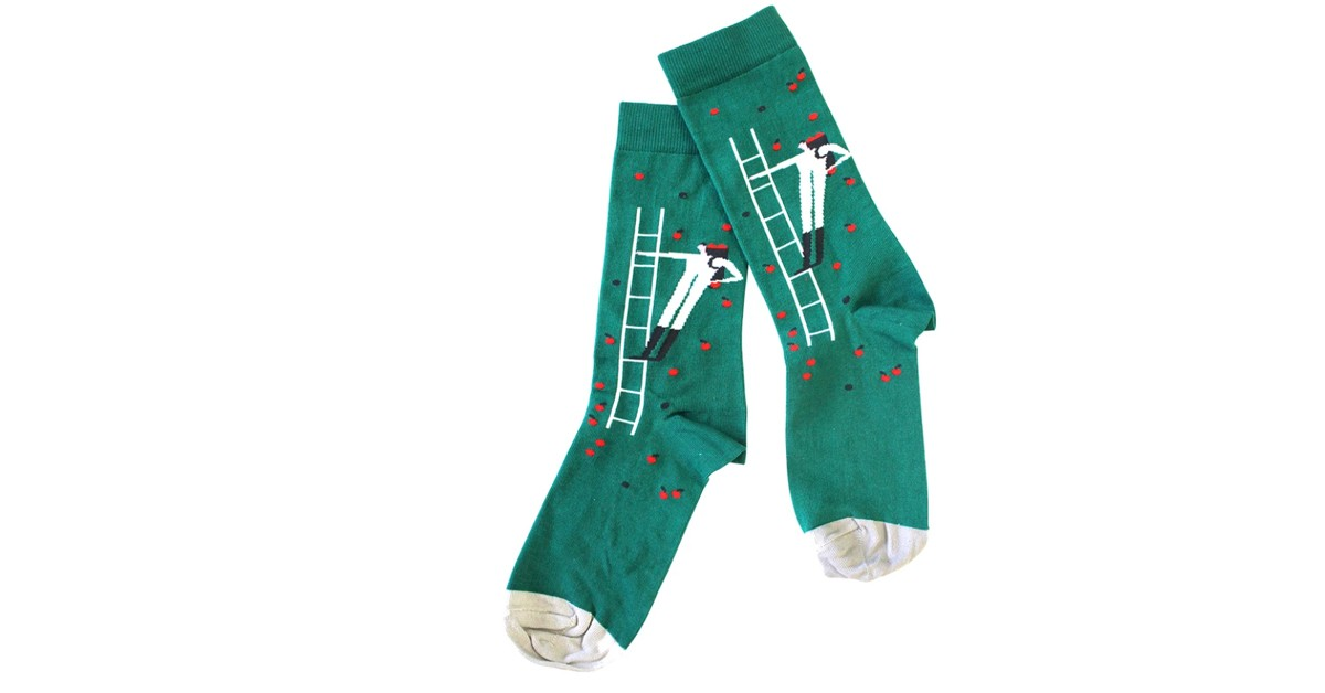 Apple picker socks