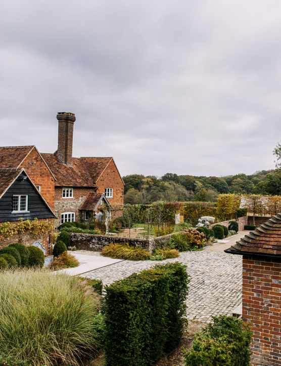 Chris Moss' garden around a 17th century farmhouse in West Sussex