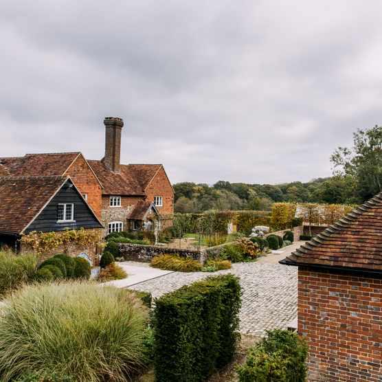 Chris Moss' garden around a 17th century farmhouse in West Sussex