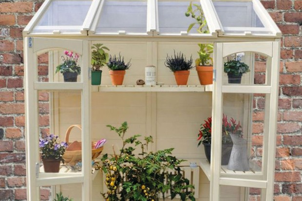 Victorian Tall Wall Greenhouse
