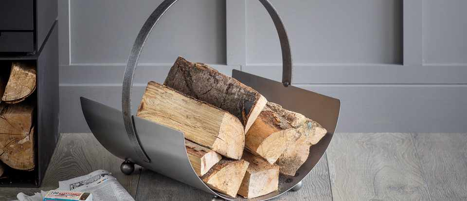 Lodge Round Log Carrier - Small - LCST01_1