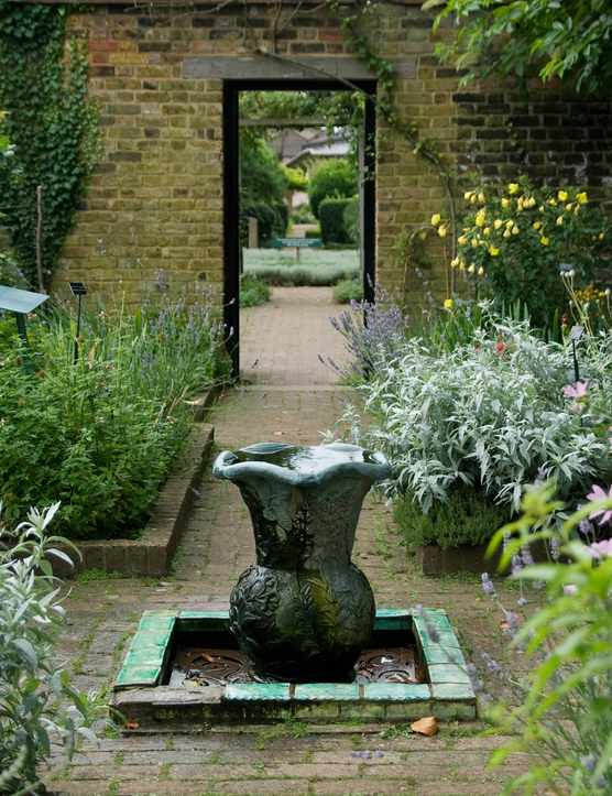 Walled Herb Garden at the Museum of the Home featuring over 170 varieties of plants which have domestic uses. Courtesy of Jane Lloyd.